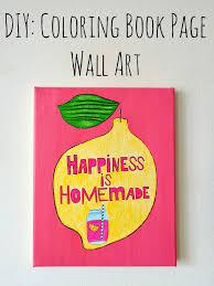 diy coloring book page wall art u2013 indie crafts