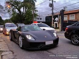 black porsche 918 matte black porsche 918 spyder spotted in sao paulo