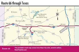 Texas Highway Map Crossing The Texas Panhandle On Route 66 Road Trip Usa