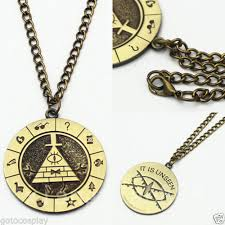 anime necklace images Anime gravity falls bill cipher boss necklace pendant cosplay jpg
