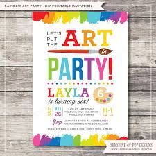 10 excellent art birthday party invitations theruntime com