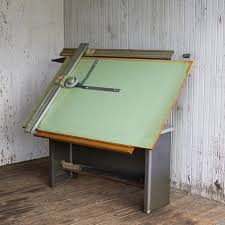 Hamilton Industries Drafting Table Vintage Hamilton Adjustable Top Drafting Table With Vemco Strait