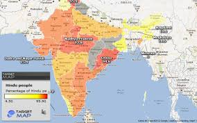 hinduism map india map of hindu by state by union territories states