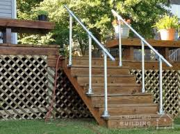 Outdoor Banisters And Railings Diy Step Handrail Plans And Ideas Simplified Building