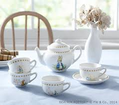 bunny tea set beatrix potter tea set pottery barn kids