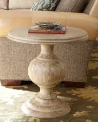 wood pedestal side table foter