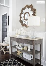 Console Table For Living Room by One Console Table Four Different Ways