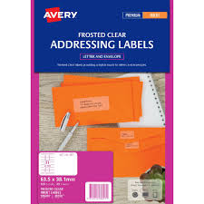 Label Template 21 Per Sheet Free Avery Inkjet Mailing Labels Clear 25 Sheets 21 Per Page Officeworks