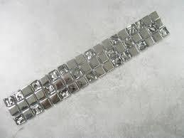 Glass Mosaic Border Tiles Glass Mosaic Border Tiles Qubic Chrome Mirror Effect 8mm Thick