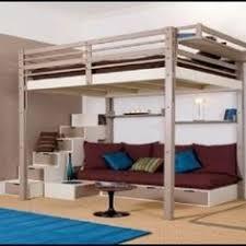 loft bed couch u0026 desk king size lofts and desks