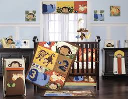 Jungle Themed Nursery Bedding Sets by Amazon Com Kids Line 8 Piece Jungle 1 2 3 Crib Bedding Set