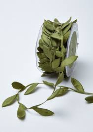 leaf ribbon olive ribbon green leaf ribbon wedding favors bow supplies diy
