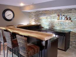 kitchen bar top ideas green wall exposed with reclaimed wooden kitchen bar plus