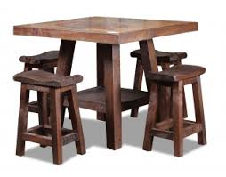 reclaimed wood pub table sets pub tables and bars southern creek rustic furnishings
