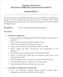 Daycare Job Description For Resume by Assistant Director Job Description Job Description For Assistant