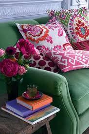 adding visual interest to a sofa boho decor hippie bohemian and