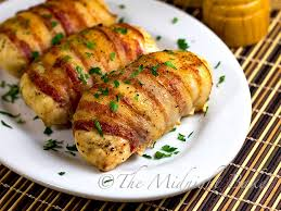 Baked Chicken Breast Dinner Ideas Bacon Wrapped Cheese U0026 Mushroom Stuffed Chicken The