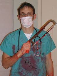 Bloody Doctor Halloween Costume Scott U0027s Bloody Surgeon Costume Close U2026 Flickr
