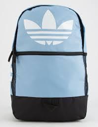 adidas classic trefoil backpack light pink lyst adidas originals trefoil light blue backpack in blue for men