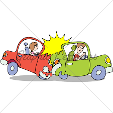 wrecked car clipart cartoon car crash clipart 2023577