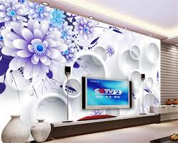 wallpaper bunga lingkaran beibehang papel de parede besar maju dalam ruangan abstrak bunga