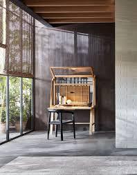 Wood Secretary Desk by Contemporary Secretary Desk Wooden With Storage Secretello