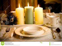 simple but elegant christmas table setting stock photo image
