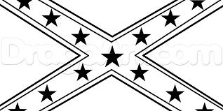 Black Confederate Flag Black And White Confederate Flag Clipart Clipground
