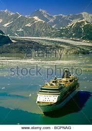 infinity cruise ship cruises at hubbard glacier in