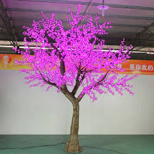 outdoor lighted cherry blossom tree wholesale pink color led cherry blossom tree yandecor