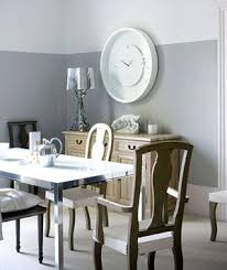 Two Tone Walls With Chair Rail Two Tone Grey Dining Room Homes Zone
