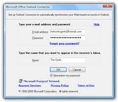 Microsoft Office Outlook Help Desk Use Hotmail From Microsoft Outlook