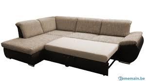 canapé d angle bi matière canapé d angle convertible lit avec coffre bimatière en tiss a