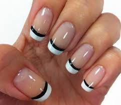 70 ideas of french manicure white polish acrylics and black