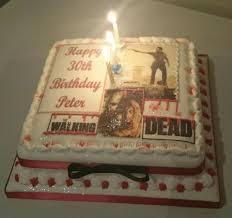 walking dead cake ideas walking dead 30th birthday cake a big thanks to top tier designer