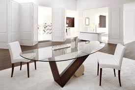 oval glass dining room table alluring decor inspiration pjamteen com