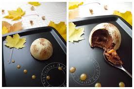 chocolat cuisine dôme de mousse au chocolat coeur coulant au caramel sur