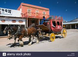 tombstone arizona usa april 6 2015 stage coach in old western