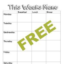 weekly menu templates free best 25 weekly menu template ideas on menu planners