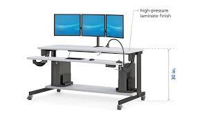 Mobile Computer Desks Workstations Bi Level Computer Workstation Desk Afcindustries With Regard To