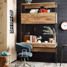 awesome industrial storage mini desk west elm greenvirals style