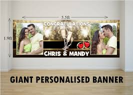 Congratulations Engagement Banner Personalised Giant Large Congratulations Wedding Engagement