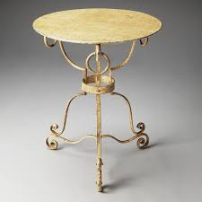 Wrought Iron Accent Table Wrought Iron 22 Diam X 27 H Round End Table