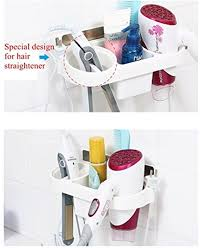 Bathroom Storage Rack White Storage Rack Plastic Hair Dryer Holder Bathroom Wall Storage