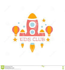 kids land playground and entertainment club colorful promo sign