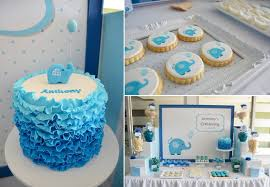 christening decorations kara s party ideas blue elephant boy christening baptism party
