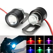 led lights for motorcycle for sale pair motorcycle led hawkeye light constant mirror mount eagle eye