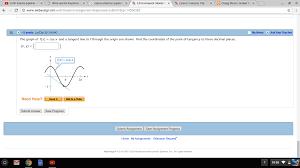 the graph of f x u003d cos x and a tangent line to f chegg com