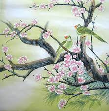 chinese peach blossom paintings chinese peach blossom wall