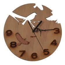 wood wall clocks bird decor for friend gifts